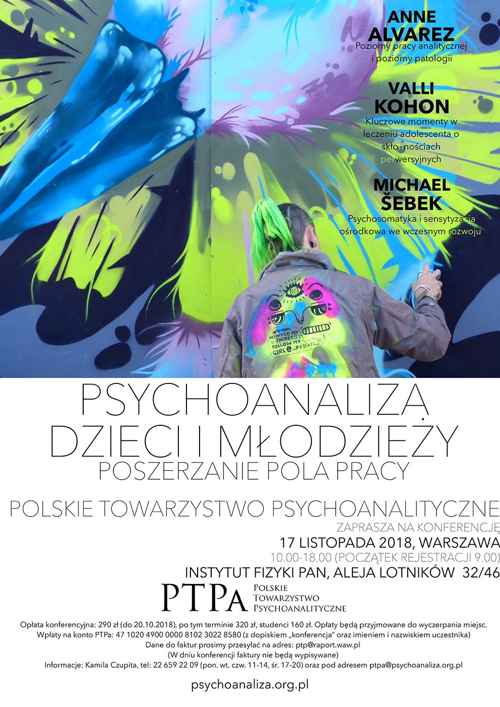 Konferencja Polskiego Towarzystwa Psychoanalitycznego: Psychoanaliza dzieci i młodzieży – poszerzanie pola pracy