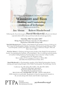 Winnicott and Bion